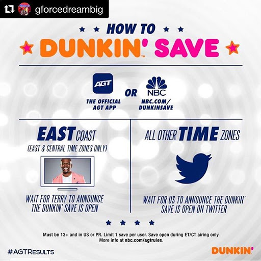 AGT 2020 Dunkin Save Voting Votes 2 September 2020 How to do Vote Online in America's got Talent 2020