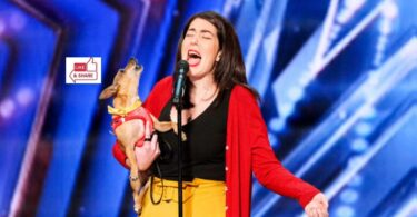 Pam and Casper (Dog) Audition Moment in America's Got Talent (AGT) 2021