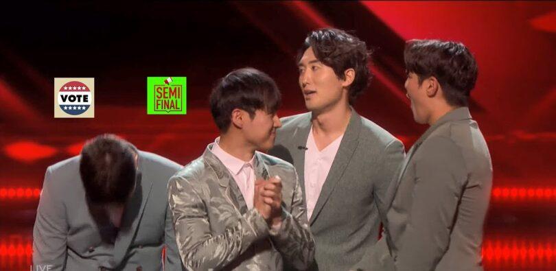Vote Korean Soul America's got Talent (AGT) 2021 Semifinal Voting App Text Number 31 August 2021 Online